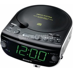 ICF-CD815 AM/FM Stereo CD Clock Radio with Dual Alarm - OPEN BOX