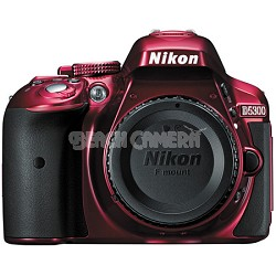 "D5300 DX-Format Digital 24.2MP SLR Body w/ 3.2"" Vari-angle LCD, Wi-Fi, GPS (Red)"