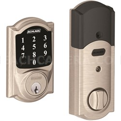 BE468CAM619 Connect Camelot Touchscreen Deadbolt, Satin Nickel