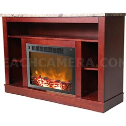 Seville Fireplace Mantel with Electronic Fireplace Insert - CAM5021-1MAH