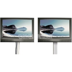 Flatscreen CleanView On-Wall 4 Channel Cable Management System
