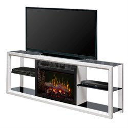 Novara Electric Fireplace & Television Stand - Logs, White