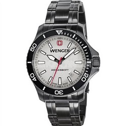 Men's Sea Force Swiss Watch - Grey Dial/Gunmetal PVD-Coated Steel Bracelet
