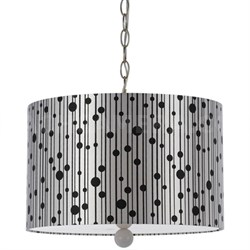 Drizzle Pendant- Silver Shade/White Finial - 8443-3H
