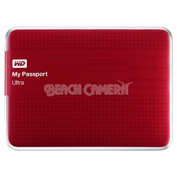 My Passport Ultra 500GB USB 3.0 Portable Hard Drive - WDBPGC5000ARD-NESN (Red)
