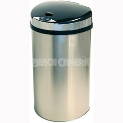 13 Gallon Semi-Round Extra-Wide Automatic Sensor Touchless Trash Can (IT13HX)