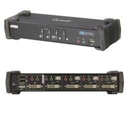 4-Port USB DVI Audio KVMP Switch - CS1764A