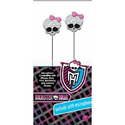 11548-BL-GAME Monster High Bling Earbud with Mic