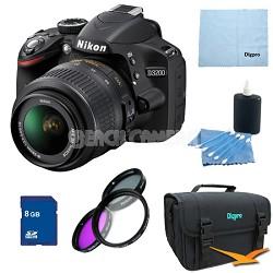 D3200 DX-format Digital SLR Kit w/ 18-55mm DX VR Zoom Lens Pro Kit (Black)