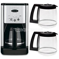 DCC-1200 Brew Central 12 Cup Programmable Coffeemaker + Two Bonus Carafes Bundle