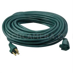 SJTW 40' Green Extension Cord - 023568805