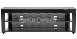 "SFV265b - Steel A/V Stand for TVs up to 65"" w/ 3 shelves (Hi-Gloss Black Finish)"