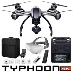 Typhoon 4K Q500 Quadcopter Drone Wizard Wand SkyView Headset Fly More Bundle