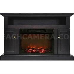 47.2 x15.7 x30.7  Sorrento Fireplace Mantel with Log Insert