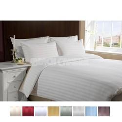 Luxury Sateen Ultra Soft 4 Piece Bed Sheet Set QUEEN-BURGUNDY RED