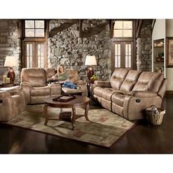 Homestead 3-Piece Living Room Set: Sofa Loveseat Recliner - 98505A3PC-SN