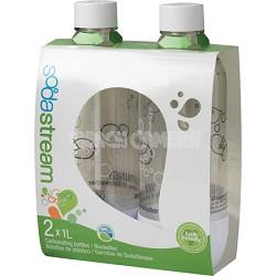 1L Carbonating Bottles White (Twinpack)
