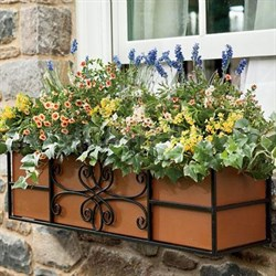 "24"" Quatrefoil Window Box - 83525"