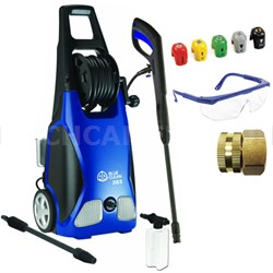 1,900 PSI 1.3 GPM 14 Amp Electric Pressure Washer with Hose Reel Deluxe Bundle
