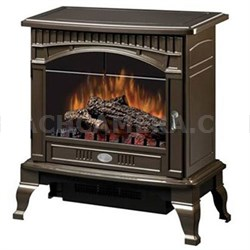 Electric Stove-Style Fireplace - Bronze