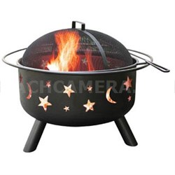 Big Sky Stars and Moons Firepit in Black - 28345