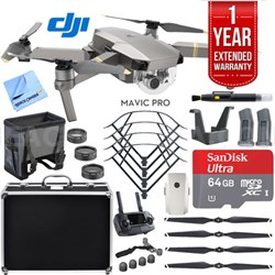 Mavic Pro Platinum Quadcopter Drone + 1 Year Extended Warranty  Accessories Kit