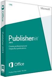 Publisher 2013 Key Card (No Disc)