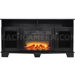 59.1 x17.7 x31.7  Savona Fireplace Mantel with Logs and Grate Insert