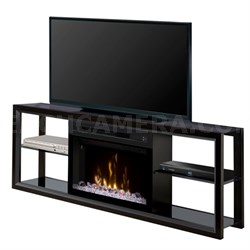 Electric Fireplace - Novara (with glass ember bed) Black