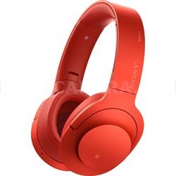 MDR100 h.Ear on NC On-Ear Bluetooth Headphones w/ NFC - Cinnabar Red - OPEN BOX