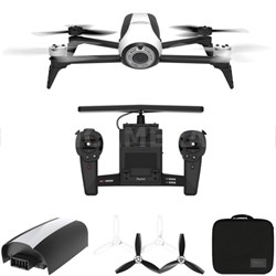 BeBop 2 Quadcopter Drone White with HD Skycontroller Bundle All Inclusive Pack