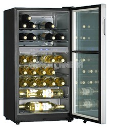 35-Bottle Wine Cellar with Dual Storage Compartment (Black)