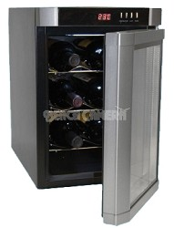 Up to 6-Bottle Capacity Thermal Electric Wine Cellar, Silver with Silver Door