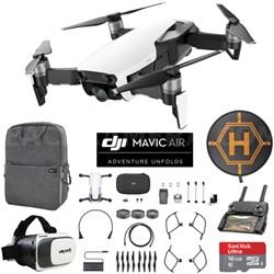 Mavic Air Arctic White Drone Mobile Go Kit Case VR Goggles Landing Pad 16GB Card