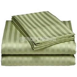 Luxurious 400 Thread Count Woven Cotton Sateen Sheet Set - Green (Queen)