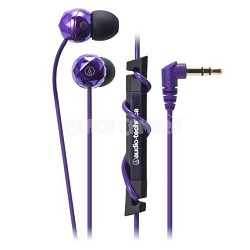 ATH-CKF303PL FashionFidelity BIJOUE In-ear Headphones Purple