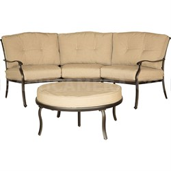 Traditions 2pc Seating Set: One Crescent Sofa and One Cushion Ottoman