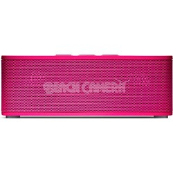 Superior Sound Soundbrick Bluetooth Pink Stereo Speaker with Built-in Mic