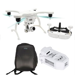 GhostDrone 2.0 VR IOS - White/Blue 1 Year Crash Coverage Included w/Pro Bundle