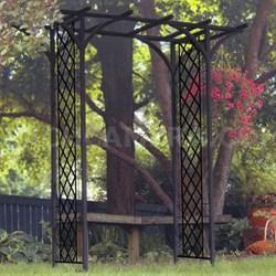 Garden Arbor with Lattice Black - 89089