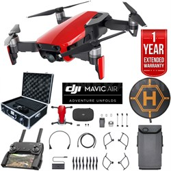 Mavic Air Flame Red Drone Bundle with Hard Case Landing Pad & Extended Warranty