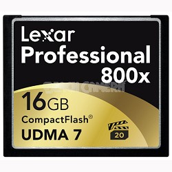 16 GB Professional 800x Compact Flash (Thin Box) 2-Packs (LCF16GCTBNA8002)