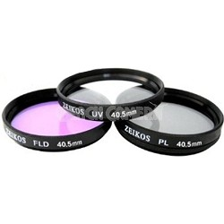 40.5mm UV, Polarizer & FLD Deluxe Filter kit (set of 3 + carrying case)
