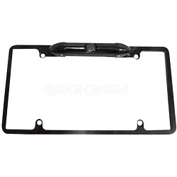 Low Lux Rear Camera Black Chrome Metal Licence Plate Frame