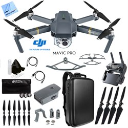 Mavic Pro Quadcopter Drone with 4K Camera and Wi-Fi Custom Case Accessories Kit