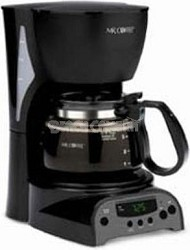 4-Cup Programmable Coffeemaker - Black