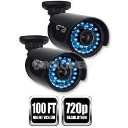 2-pk 720p Hi-Def AHD Bullet Camera, 60ft cable per camera - Black