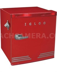 1.6 cu ft Retro Compact Refrigerator w/Side Bottle Opener - Red - OPEN BOX