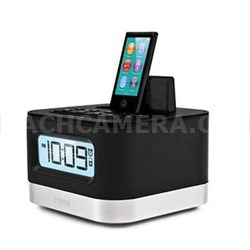 Stereo FM Clock Radio in Black with Lightning Dock for iPhone/iPod - iPL8BN