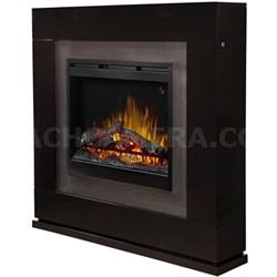 Lukas Electric Fireplace - Black Gloss